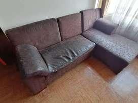 Sofa en L, usado