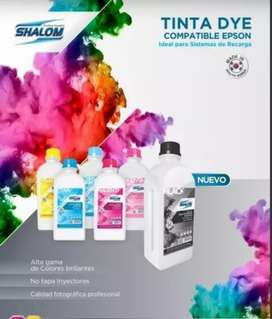 Litro tinta shalom BK-C-LC-LM-M-Y EPSON