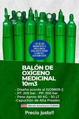 Balones de oxígeno (válvula americana)