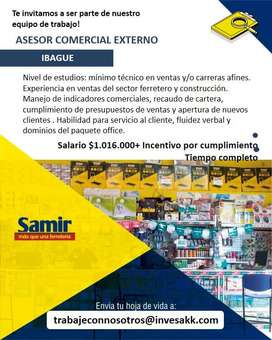 ASESOR COMERCIAL EXTERNO IBAGUE