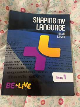 Libro Be+live Shaping my language blue level Term 1 y Term 2