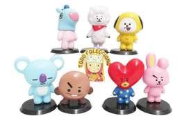 Set X 7 Figuras K-pop Mascotas Bts