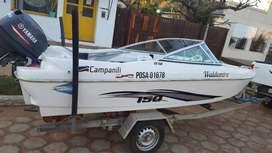 Lancha Campanilli 150 cs con yamaha 40 2t