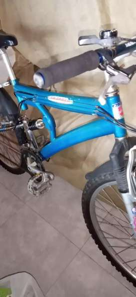 VENDO BICICLETA TODO TERRENO DOBLE SUSPENSION, 5 VELOCIDADES