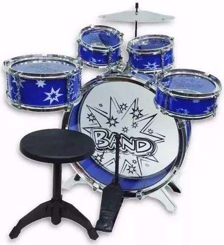 Batería musical big-bang juguete 5 tambores  silla  ninos 0