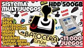 HDD 500GB con sistema multijuegos Batocera Arcade Casero