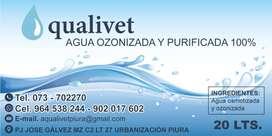 AGUA OZONIZADA PURIFICADA