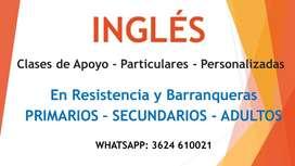 INGLÉS. Profesores Particulares en Resistencia y Barranqueras