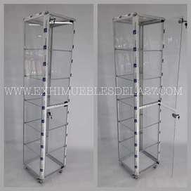 Torre en marco de aluminio 180cm de alto 40x40cm. Exhibición de lujo. Alta calidad.