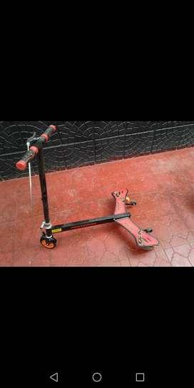 Monopatín aluminio doble ala scooter