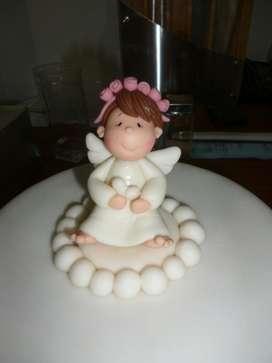 Tope Torta Angelita Porcelana Fria