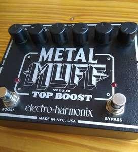[LIQUIDO!!!] Pedal Guitarra Electro-Harmonix Metal Muff With Top Boost