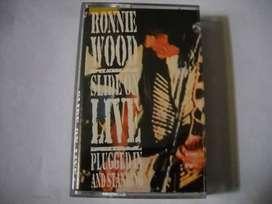 ronnie wood slide on live cassette nuevo