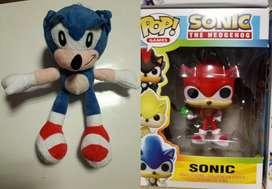 Combo Peluche + Muñeco Sonic