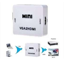 Convertidor Vga A Hdmi Con Audio 1080p Pc Laptop Full Hd Isc (853)