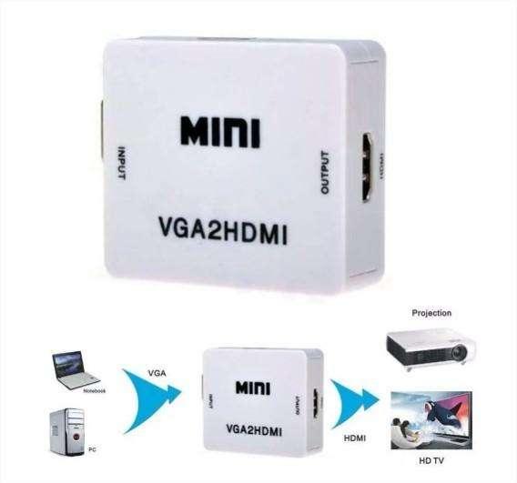 Convertidor Vga A Hdmi Con Audio 1080p Pc Laptop Full Hd Isc (853) 0