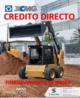 MINICARGADOR MARCA XCMG MODELO XT740. CREDITO DIRECTO. FINANCIAMIENTO. FACILIDADES DE PAGO