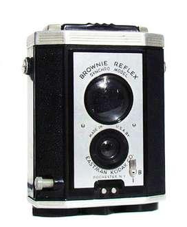 Kodak Brownie Reflex Synchro Antigua Máquina de Fotos. Coleccionistas