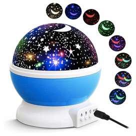 Hermosa lampara LED proyector estrellas