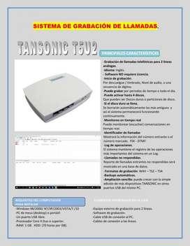 Grabador de Llamadas Análogas, Tansonic