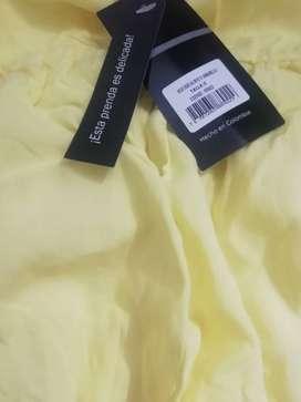 Vestido estilo batico amarillo