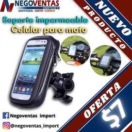 SOPORTE DE TELEFONO PARA MOTO O BICICLETA CON ESTUCHE IMPERMEABLE EN OFERTA ÚNICA DE NEGOVENTAS