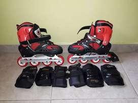 Rollers ajustables 38-41 Exelente estado!