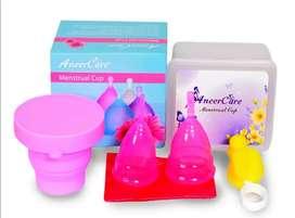 2 copa Menstrual marca Aneer + 1 Vaso esterilizador.