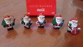Adornos Navidad Papa Noel Coca Cola Colección Lote x5