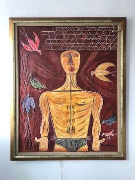 Pintura del artista Héctor Rojas Herazo