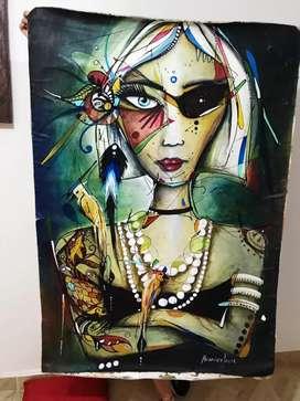 Pintura en óleo y acrílico 125x80cm