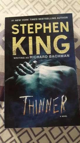 "Libro nuevo en ingles ""THINNER"" STEPHEN KING"