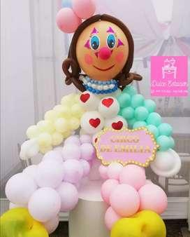 Payaso de globo para fiesta infantil