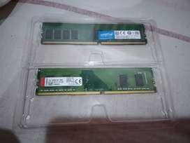 Memorias ddr4 de 4gb para pc de mesa, 150mil por las 2