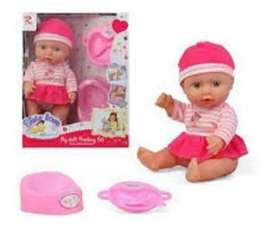 Muñeca Bebé Hace Pis 10 Sonido Y Accesorios