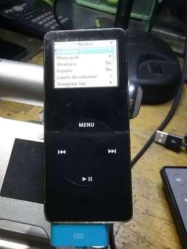 Reproductor iPod nano segunda generación plástico color negro 2 gigabytes