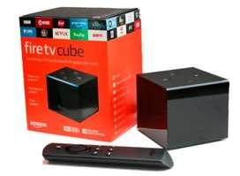 Amazon Fire Tv Cube 4k Uhd Hdr Hdmi Asistente Alexa Netflix