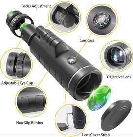 telescopio monocular, 12 x 50 monocular de alta potencia con soporte para smartphone, prisma BAK4 para observación