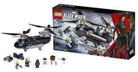 Lego Marvel Black Widow Helicóptero Persecución 271 Pzs