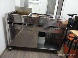 Estufa Restaurante Con Parrilla-freidora-vaporizador