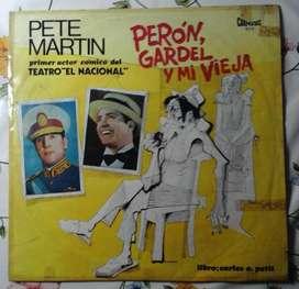Lp disco vinilo Pepe Matin Peron Gardel y mi vieja