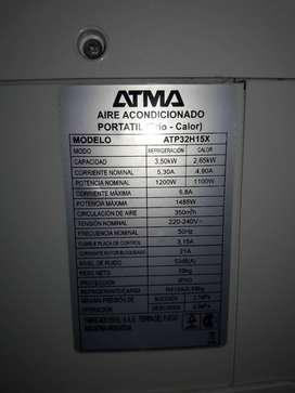 Aire portatil atma frio/calor 2500w