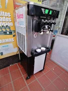 Maquina helado suave 3 boquillas