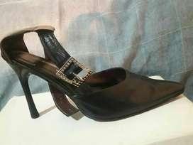 Zapatos con Taco Mongomery Cuero N 37