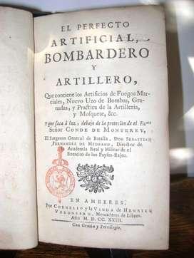 Libro 1723 El Perfecto Artificial Bombardero Y Artillero / Maxim Nord