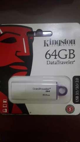 Vendo memoria USB 64 GB kingston