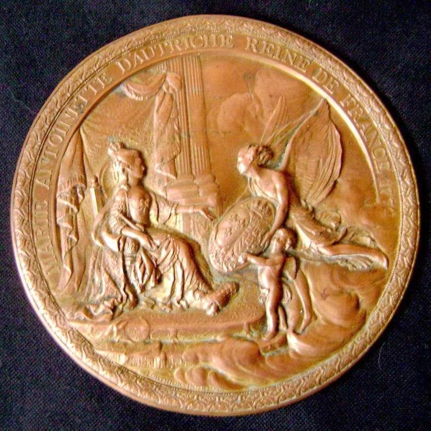 Medalla Medallón 1781 María Antonieta Trono Francés / Maxim Nord 0