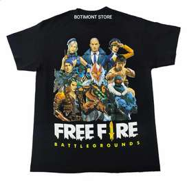 Camiseta Free fire, Battle Grounds video juegos