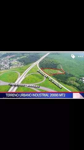 Vendo 2 hectareas terreno industrial Urbano