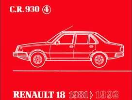 RENAULT 18 MANUAL DE DESPIECE